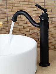 abordables -Robinet lavabo - Rotatif Bronze huilé Set de centre Mitigeur un trouBath Taps / Laiton