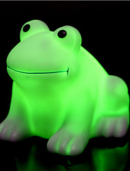 cheap -Creative Color-Changing Colorful Happy Frog LED Night Light High Quality