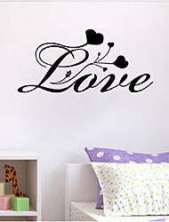abordables -Romance Formas Palabras y Frases Pegatinas de pared Palabras y comillas Pegatinas de pared Calcomanías Decorativas de Pared, Vinilo