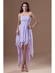 cheap -A-Line Strapless Asymmetrical Chiffon Cocktail Party Prom Dress with Beading Draping by TS Couture®