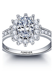 abordables -Promesse personnalisée 925 sterling silver cz stone wedding party ring for women