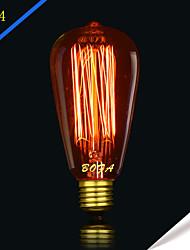 bofa st64 13ak 40w antique edison boule de soie lampe à bulles (85v-265v)