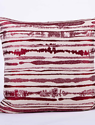 Stripe Jacquard  Cushion Cover-Red