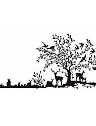 Недорогие -Животные / ботанический / Мультипликация / Романтика / Мода / Продукты питания / Праздник / Пейзаж / Геометрия / фантазия НаклейкиПростые