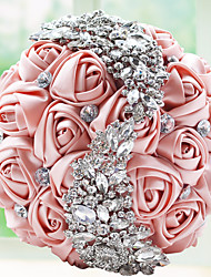 "cheap -Wedding Flowers Bouquets Wedding Party / Evening Bead Lace Rhinestone Polyester Satin Foam 9.84""(Approx.25cm)"