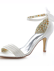 cheap -Women's Shoes Stretch Satin Stiletto Heel Heels Sandals Wedding / Party & Evening / Dress Ivory