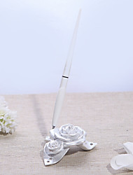 cheap -Elegant BeautifulPearl White Resin Rose Pen Base Wedding Ceremony
