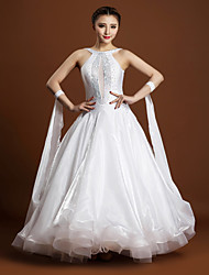 cheap -Performance Dresses Women's Performance Spandex Tulle Crystals/Rhinestones Sleeveless Natural Dress