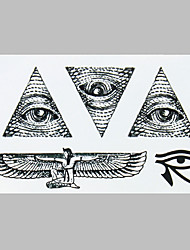 cheap -Fashion Tattoo Black Angell  Eye Waterproof Tattoo Stickers