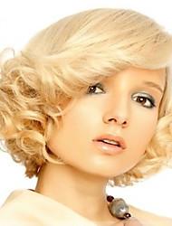 abordables -Mujer Pelucas sintéticas Corto Ondulado Rubia Pelucas para Disfraz