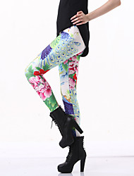 Women's Sporty Look Print Legging,Polyester Medium