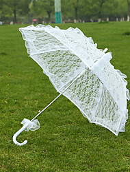 cheap -White Lace Wedding Unmbrellas for Bridal Parasols Wedding Accessories