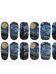 economico -1pc van Gogh il cielo stellato chiodo autoadesivi di arte 14 a bastone tutti Pubblicato