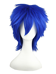 cheap -Synthetic Wig Straight Synthetic Hair Blue Wig Capless