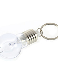 Mini Color Changing Designed Bulb LED Flashlight Light  Key Ring Keychain Lamp Torch Gift  Idea