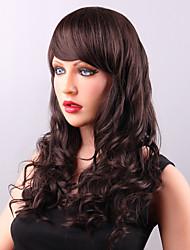stilfuld lang shaggy menneske jomfru remy hånd dyb bølge bundne top capless kvindes hår paryk