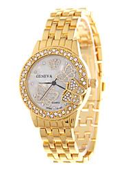 abordables -Mujer Reloj de Moda Cuarzo Gran venta Acero Inoxidable Banda Mariposa Plata Dorado Oro Rosa