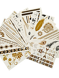 cheap -12PCS Bifferent Size Style Tattoo Paste G K -1 A Series of