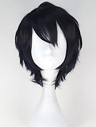 Cosplay Perücken Seraph des End Yuichiro Hyakuya Schwarz Kurz Anime Cosplay Perücken 32 CM Hitzebeständige Faser Mann