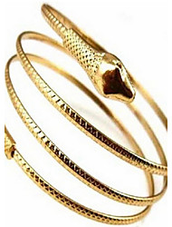 Women's Cuff Bracelet Personalized European Costume Jewelry Alloy Snake Jewelry For Wedding Party Daily Casual
