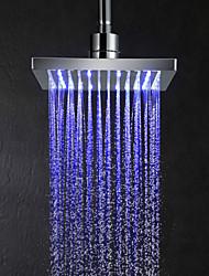 8inch Changement de couleur LED pomme de douche carrée - argent