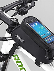 cheap -ROSWHEEL Bike Frame Bag Cell Phone Bag 4.2 inch Waterproof Zipper Wearable Moistureproof Shockproof Touch Screen Cycling for Samsung