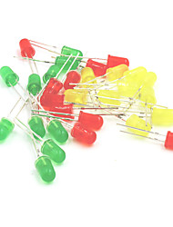 cheap -5mm LED Light-Emitting Diodes Set - Red + Yellow + Green (30PCS)