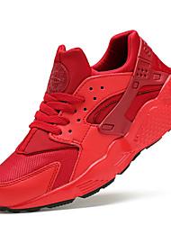 Femme Chaussures Synthétique Printemps Eté Automne Hiver Confort Course à Pied Lacet Pour Noir Blanc Rouge Vert