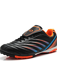 Sapatos Futebol Masculino Preto / Azul Couro Sintético