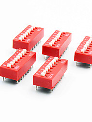 cheap -DIY 8-Position 16-Pin 2.54mm Pitch Dip Switches (5-Piece Pack)