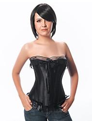 cheap -YUIYE® Women Sexy Lingerie Waist Training Corset Bustier Tops Shapewear Black Overbust Corset Plus Size S-2XL