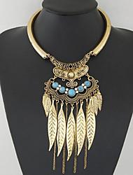 abordables -Mujer Turquesa Collares con colgantes Collares Declaración  -  Personalizado Vintage Bohemio Joyas Plata Dorado Gargantillas Para Fiesta