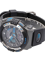 cheap -Men's Sport Watch PU Band Black / White / Blue