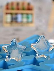 Diy Formatos de gelo em forma de pentagrama estilo alta qualidade novo estilo (cor aleatória)