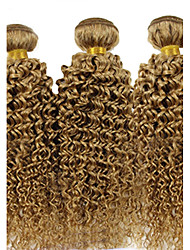 billige -3 Bundler Brasiliansk hår Krøllet / Krøllet væv Menneskehår, Bølget Menneskehår Vævninger Menneskehår Extensions