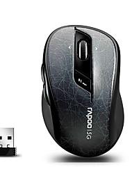 orginal Rapoo 7100p 5.8GHz trådløs optisk mus med 4d rullehjul programmerbar til pc / laptop sort / grøn / rød / grå