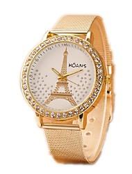 baratos -Mulheres Relógio de Pulso Relógio Casual / imitação de diamante Lega Banda Amuleto / Fashion / Relógio simulado de diamantes Prata / Dourada