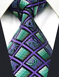 Недорогие -мужская сторона работа районный галстук цвет блок проверка жаккард, основной