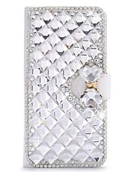 На все тело Стразы / с подставкой / кувырок Однотонные Искусственная кожа жесткий Для крышки случая HuaweiHuawei P8 / Huawei P8 Lite /