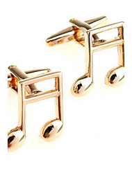Men's Fashion Musical Note Gold Alloy French Shirt Cufflinks (1-Pair)