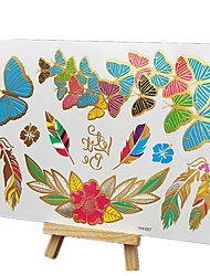 cheap -NEW Hot Stamping Fashion Safe non-toxic Large Size Hawaiian Butterfly Pattern Waterproof Tattoo Stickers
