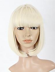 billige -Syntetiske parykker Lige Bob frisure Massefylde Lågløs Dame Medium Syntetisk hår