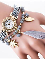 Leisure Trend Quartz Watch Ms Han Edition Student Cord Feather Fashion Bracelet Watches