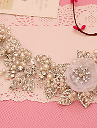 Tulle Imitation Pearl Rhinestone Headbands Headpiece