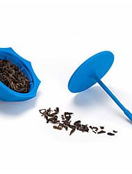 Недорогие -силиконовый зонт в форме чая для заварки рассыпной чай листьев фильтр сетчатый фильтр (случайный цвет)