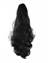 Недорогие -длина черный парик 58см синтетические вьющиеся высокой температуры проволоки прокрутки хвощ цвет 4