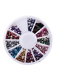 cheap -Nail Rhinestones 2mm Acrylic Nail Art Rhinestones Decoration For UV Gel Phone Laptop DIY Nail Tools