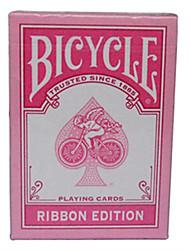 Недорогие -розовый лента велосипед велосипед покер карты магия покер настольные игры карты розовый 1 поколение (а)