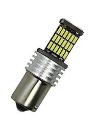 2X white 1156 G18 Ba15s 45 4014 LED Turn Signal Rear Light Bulb D068 12-24V