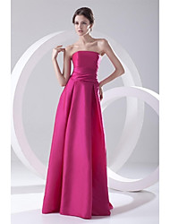 cheap -A-Line Strapless Floor Length Taffeta Formal Evening Dress with Pleats by TS Couture®